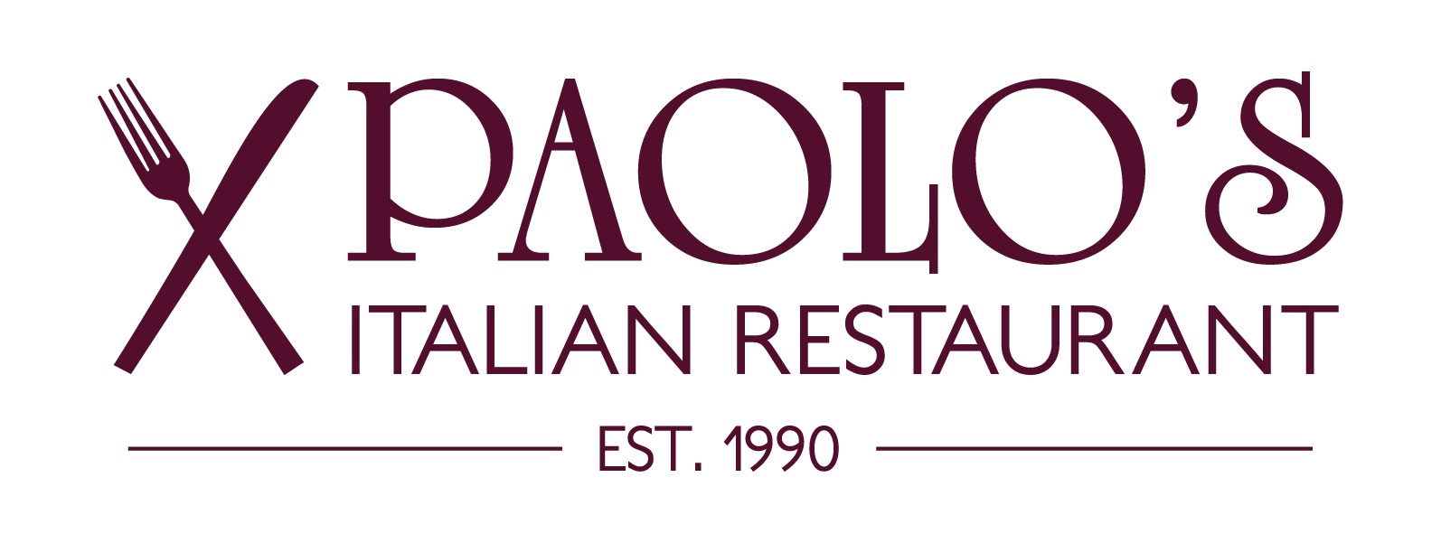 Paolos Logo Est.1990 Red Logo File 07