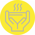 Fall 2021 Give A Meal Icon Gray On Yellow